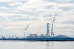 Przemysł i elektrownia, Japan obrazy stock
