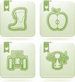 Przemysł Ikony: Rolnictwo Zdjęcia Royalty Free