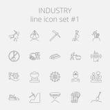 Przemysł ikony set royalty ilustracja