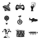 Przemysł rozrywkowy ikony ustawiać, prosty styl Fotografia Stock