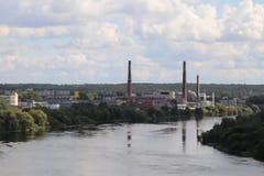 Przemysł rzeką Zdjęcia Royalty Free