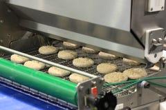 Przemysł spożywczy. Produkcja ciasteczko produkty. Zdjęcia Royalty Free