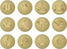 przemysł złociste foki Obraz Stock