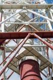 Przemysłowa drymba robić ampuła, geometryczny, metal struktury obrazy royalty free