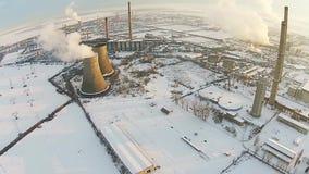 Przemysłowa estradowa zimy antena zdjęcie wideo
