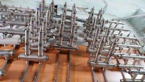 Przemysłowa fabryka metal piszczy produkcji Spawać drymby zbiory