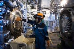 Przemysłowa mechanika cleaning extruder maszyna zdjęcia stock