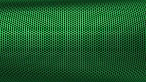 Przemysłowa Metall stali żelaza dziur wzoru arfy zieleń zdjęcia royalty free