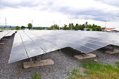 Przemysłowa photovoltaic instalacyjna energia słoneczna Obraz Stock