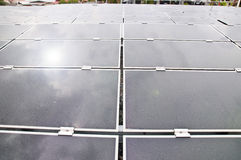 Przemysłowa photovoltaic instalacyjna energia słoneczna obrazy stock