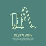 Przemysłowa próżniowego cleaner mieszkania linii ikona, logo Wektorowa ilustracja gospodarstwa domowego urządzenie dla sprzątania ilustracja wektor