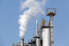 Przemysłowa rafinerii roślina Zdjęcia Stock