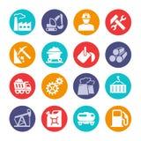 Przemysłowa sieci ikony kolekcja ilustracja wektor