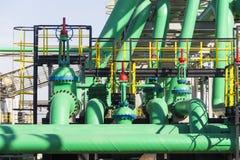 Przemysłowa zielona tubka Fotografia Stock