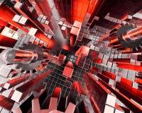 przemysłowe abstrakcyjne tło ilustracja wektor