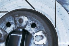 przemysłowe abstrakcyjnych części samochodowe Zdjęcia Royalty Free
