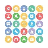 Przemysłowe Barwione Wektorowe ikony 6 Zdjęcie Royalty Free