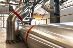 Przemysłowe drymby w termicznej elektrowni Zdjęcie Royalty Free