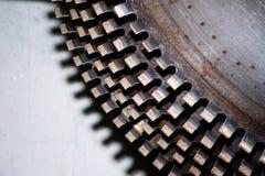 Przemysłowe kółkowe piły na kamieniu Zakończenie zdjęcie royalty free