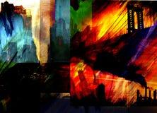 przemysłowe miasto abstrakcyjne ilustracji