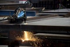 Przemysłowego osocza tnąca maszyna Obraz Royalty Free