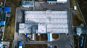 Przemysłowego przedsięwzięcia odgórny widok Powietrzna ankieta zdjęcie royalty free