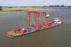 Przemysłowego przewożenia Estradowy statek zdjęcie stock