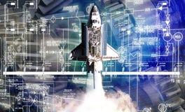 przemysłowej inżynierii budowy astronautyczna rakieta obrazy stock
