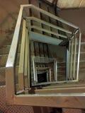 Przemysłowej klatki schodowej zmniejszający się widok 01 Fotografia Royalty Free