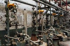 Przemysłowi melanżery Zaniechanego Indiana wojska Amunicyjna zajezdnia - Indiana - Disused melanżeru dom - zdjęcie stock