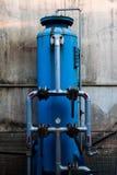 Przemysłowi narzędzia: Ciśnieniowi zbiorniki dla hydraulicznej prasy Obrazy Royalty Free