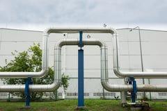 Przemysłowi rurociąg w elektrowni łatwości Zdjęcia Royalty Free