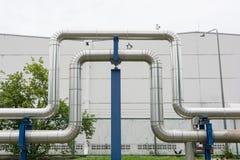 Przemysłowi rurociąg w elektrowni łatwości Fotografia Royalty Free
