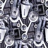 Przemysłowi wzory abstrakcjonistyczni Zdjęcia Stock