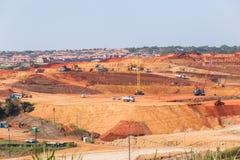 Przemysłowy budowa krajobraz fotografia royalty free