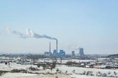 Przemysłowy drymba dym zdjęcie stock