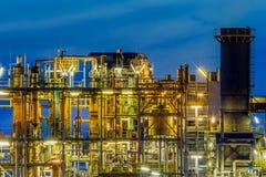 Przemysłowy fabryki chemikaliów struktury profilu szczegół Zdjęcia Royalty Free