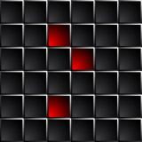 Przemysłowy i technologiczny ciemny tło polerował czarnych kwadraty Obraz Stock
