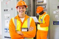 Przemysłowy inżynier z kolegą obraz stock