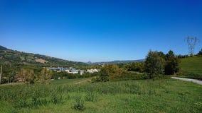 Przemysłowy kompleks w wsi fotografia stock
