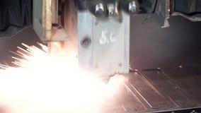 przemysłowy krajacza laser klamerka Maszyna dla rozchylać, ciąć i obdzierać, stalowego prześcieradło zdjęcie wideo