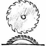 Przemysłowy kurendy saw dysk ilustracji