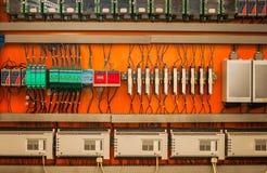Przemysłowy lontu pudełko na ścianie Zdjęcia Stock