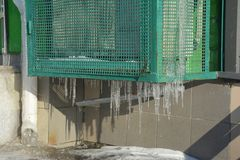 Przemysłowy lotniczy conditioner kompresor w lodzie obrazy stock