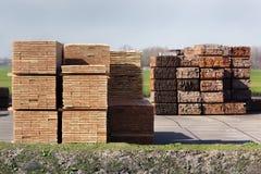 Przemysłowy magazyn drewno obrazy stock