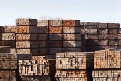 Przemysłowy magazyn twarde drzewo zdjęcie stock
