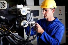 Przemysłowy maszynowy operator obrazy stock
