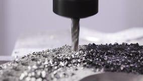 Przemysłowy metalworking rozcięcia proces mielenie krajaczem zbiory wideo