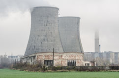 Przemysłowy mgłowy widok zdjęcie royalty free