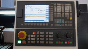 Przemysłowy pilot do tv panel metalu pracujący manufactory Zdjęcia Stock